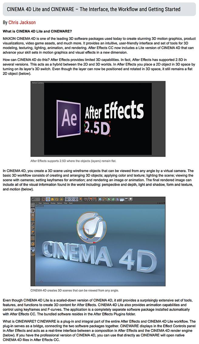 Author | Mastering Film: CINEMA 4D Lite and CINEWARE